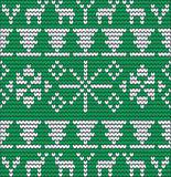 Christmas background with tree made of wool Stock Photo