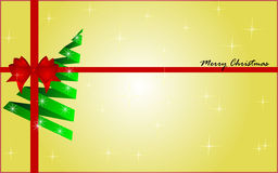 Christmas background. With christmas tree and red bow Royalty Free Stock Photos