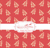 Christmas background. Christmas tree seamless pattern, Pattern Swatches, vector, Endless texture can be used for wallpaper, pattern fills, web page,background Royalty Free Stock Photography