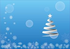 Christmas background. With tree and snow Royalty Free Stock Photos