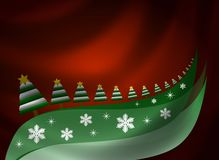 Christmas Background with Trees Stock Photos