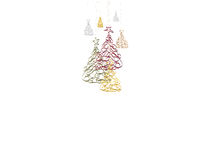 Christmas background. With Christmas trees Stock Images