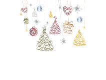 Christmas background. With Christmas trees Stock Image