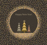 Christmas background with trees Royalty Free Stock Photos