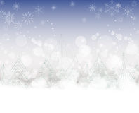 Christmas background with trees Royalty Free Stock Images