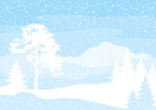 Christmas background, trees and snow Vector Illustration