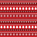 Christmas background with trees and snowflakes Royalty Free Stock Photography