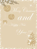 Christmas. Background with  trees and wishes Royalty Free Stock Photo