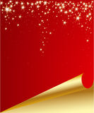 Christmas background with a turning page Stock Photography