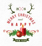 Christmas background with type design Royalty Free Stock Images