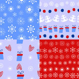 Christmas background. 4 types of Christmas and winter background Stock Images
