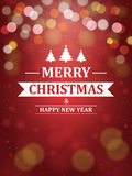 Christmas Background with Typography Stock Photos