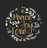 Christmas Background with Typography, Lettering Royalty Free Stock Photo