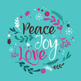 Christmas Background with Typography, Lettering Royalty Free Stock Images