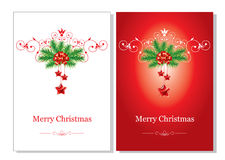 Christmas background. Vector. Two versions beautiful Christmas background. Vector Royalty Free Stock Photography