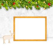 Christmas background vector. Christmas background with frame vector royalty free stock image