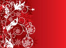 Christmas background, vector Stock Images