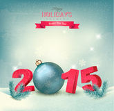 Christmas background with a 2015. Stock Images