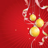 Christmas Background (Vector). Illustration of a christmas background with golden balls Stock Illustration