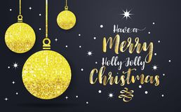 Christmas Background Vector background. For banner, poster, flyer Stock Photos