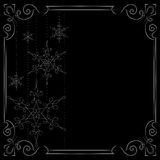 Christmas background. Vector frame decorated with snowflakes Royalty Free Stock Image