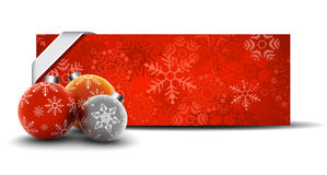 Christmas Background. Vector illustration of Christmas banner with baubles Stock Photography