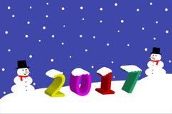 2017 Christmas Background. Vector Illustration of Christmas 2017 banner on winter festival background Stock Image