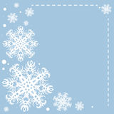 Christmas background. Vector Illustration of Christmas Snowflakes Royalty Free Stock Image