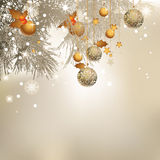 Christmas background. Vector illustration with christmas tree balls, Christmas Background Royalty Free Stock Photography