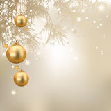 Christmas Background. Vector illustration with christmas tree balls, Christmas Background Royalty Free Stock Images