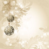Christmas background. Vector illustration with christmas tree balls, Christmas Background Stock Image