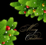 Christmas background Vector illustration. Stock Images