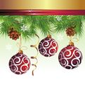 Christmas background vector image with balls Stock Photography