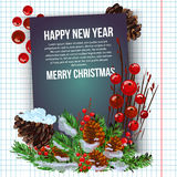 Christmas background vector image. Card merry christmas and new year design Stock Photos