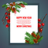 Christmas background vector image. Card merry christmas and new year design Stock Photo