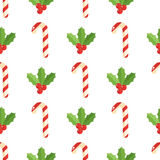 Christmas background, vector seamless pattern with christmas elements Stock Photo