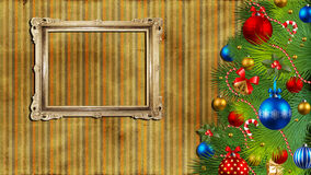 Christmas background with a vintage frame. Stock Photography