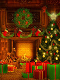 Christmas background in vintage style Stock Images