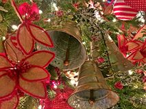 Christmas Background w Bells. Christmas - Holiday background, suitable for seasonable websites or for many other holiday uses signs, newsletters, cards, etc Royalty Free Stock Image