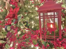 Christmas Background w Lantern. Christmas - Holiday background, suitable for seasonable websites or for many other holiday uses signs, newsletters, cards, etc Stock Image