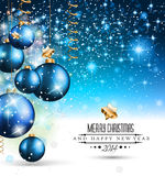 2014 Christmas Background with a waterfall of ray lights. 2014 Christmas Colorful Background with a waterfall of ray lights and a lot of baubles and stars stock illustration