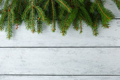 Christmas background on white boards Royalty Free Stock Photos