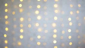 White brick wall with shiny lights stock footage