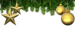 Christmas background. On white background 3D illustration Stock Photography