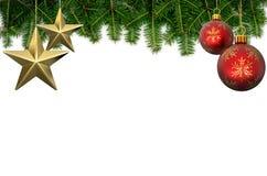 Christmas background. On white background 3D illustration Royalty Free Stock Images