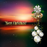 Christmas background with white decorations Stock Images