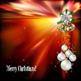 Christmas background with white decorations Stock Photography