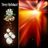 Christmas background with white decorations Stock Image