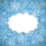 Christmas background white frame Royalty Free Stock Photography
