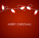 Christmas background with white lights Stock Photography